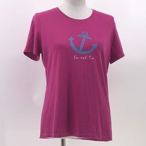 Life is good classic fit anchor graphic tshirt